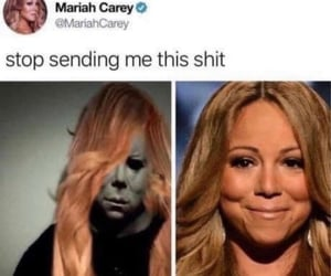 mariah, michael meyers, and funny image