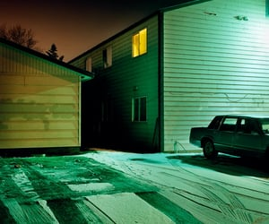 car, night, and snow image