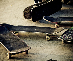 skate, skateboard, and cool image
