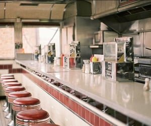 diner, vintage, and restaurant image