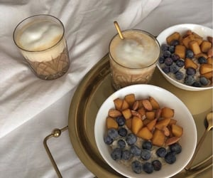 blueberry, coffee, and food image