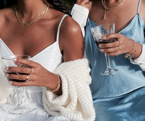 blue, dress, and drink image