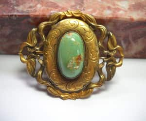 etsy, c clasp brooch, and art nouveau pin image
