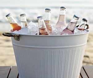 beach and cold drinks image