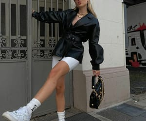 blogger, nike, and outfit image