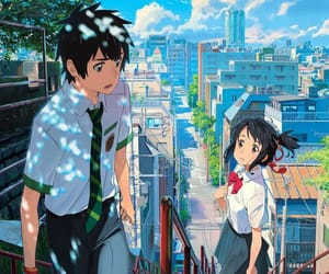 anime, anime scenery, and kimi no na wa image