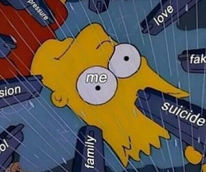 sad, simpsons, and anxiety image