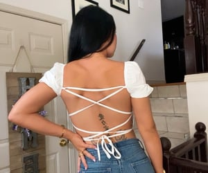 back tattoo, body, and ootd image