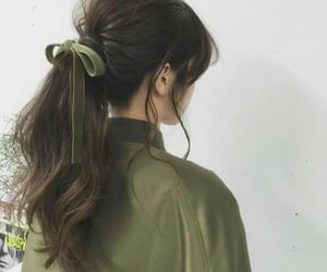 aesthetic, green, and hair image
