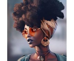black is beautiful, natural hair, and melanin image