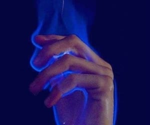 blue, fire, and flames image
