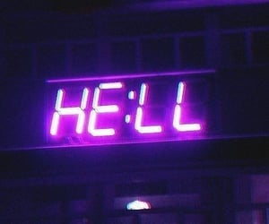 hell, purple, and violet image