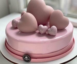 birthday, pink, and cake image