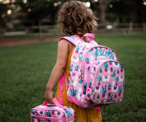 backpack, lunch bag, and monogram image