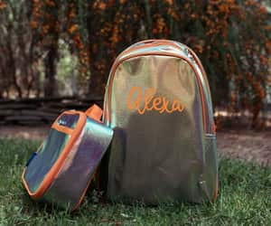 backpack, holographic, and lunch bag image