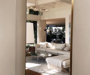 interior, home, and mirror image