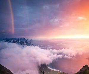 arcoiris, atardecer, and cielo image