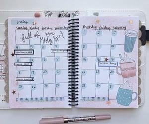 calendar, coffee, and inspiration image