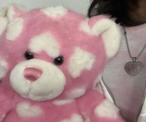 pink, white, and bear image
