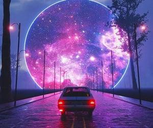 auto, galaxia, and camino image
