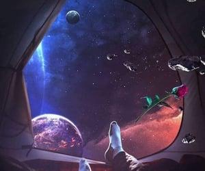 acampar, cielo, and galaxy image