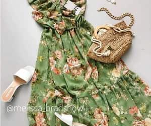 floral dress green image