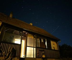 big dipper, lights, and sky image