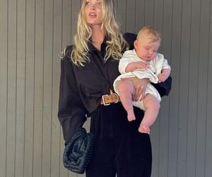 baby, elsa hosk, and model image
