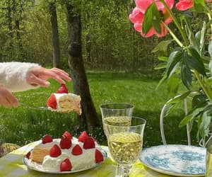 cottagecore, food, and flowers image