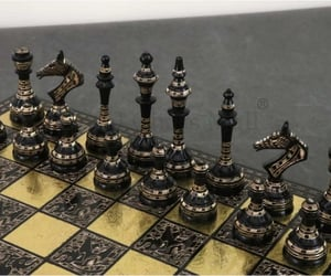 luxury chess pieces, buy chess set, and staunton chess set image