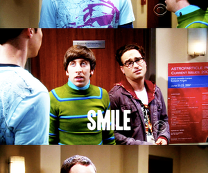 the big bang theory, sheldon, and smile image