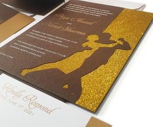 sheen invitations, custom wedding cards, and shiny dancing stars image
