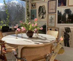 art, flowers, and home image