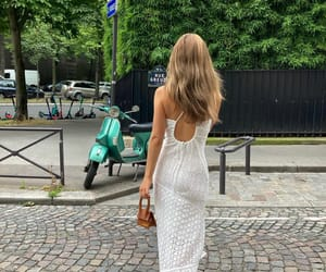 backless dress, blogger, and fashion image