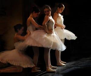 backstage, ballerina, and ballet image