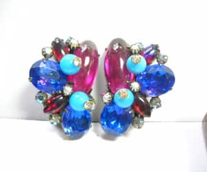 hollywood regency, pink turquoise, and caviness earrings image