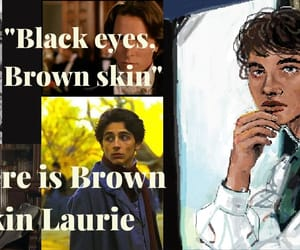 books, little women, and brown skin image