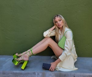blonde, model, and outfit image