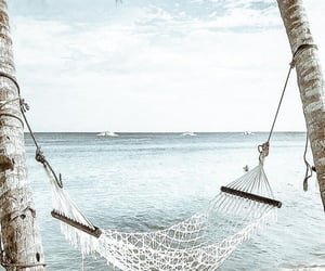 beach, hammock, and relax image