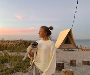 beach, camping, and fashion image