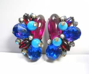 etsy, jewel earrings, and hollywood regency image