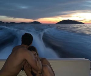 beautiful, view, and boat image