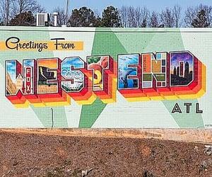 atl, Georgia, and mural image