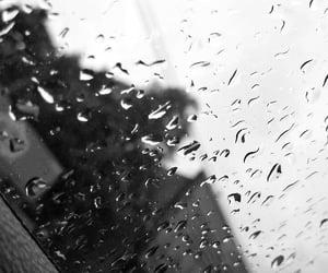 black and white, ceu, and rain image