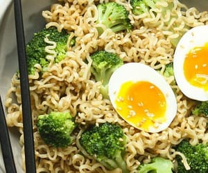 broccoli, egg, and eggs image