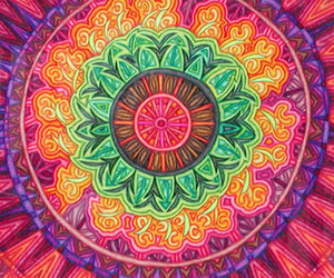 wallpaper, colors, and mandala image