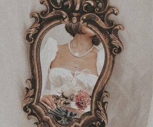 flowers, mirror, and vintage image