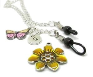 eyeglass necklace, glasses lanyard, and butterfly lanyard image