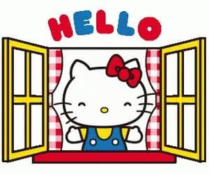 gif, sanrio, and hello kitty image