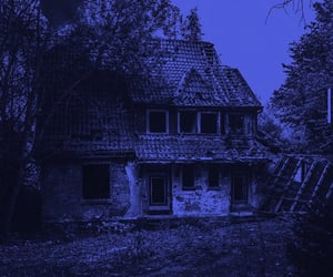 blue, dark, and house image